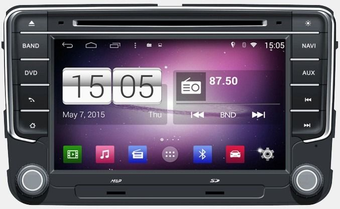 Central Multimidia VW Jetta Tiguan - Fox 2015 á 2018 -  S170 - Android + Camera de ré -  Espelhamento DVD GPS Mapa Bluetooth MP3 USB Ipod SD Card Câmera Ré Grátis