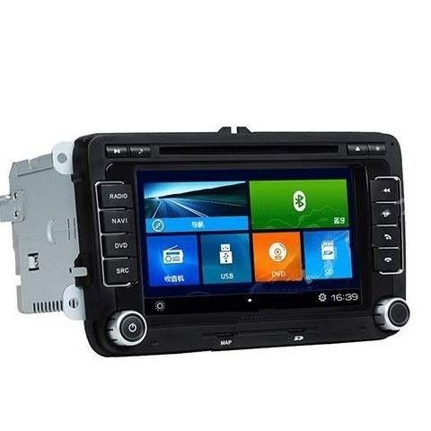 Central Multimidia VW Jetta / Tiguan  - Fox 2016 - 2019- S90  Com DVD GPS Mapa Bluetooth MP3 USB Ipod SD Card Câmera de Ré Grátis