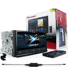 Central Multimidia Renegade - Pioneer AVH-Z5080TV + Moldura 2 Din -  Com Apple Carplay e  Android Auto DVD GPS Wase Mapa Bluetooth MP3 USB Ipod SD Card Câmera de Ré Grátis
