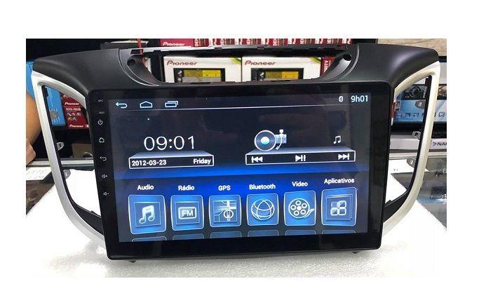 """Central Multimidia Hyundai Creta Caska NavPro Tela 10"""" - Android + Camera de ré -  Espelhamento TV GPS Mapa Bluetooth MP3 USB Ipod SD Card Câmera Ré Grátis"""