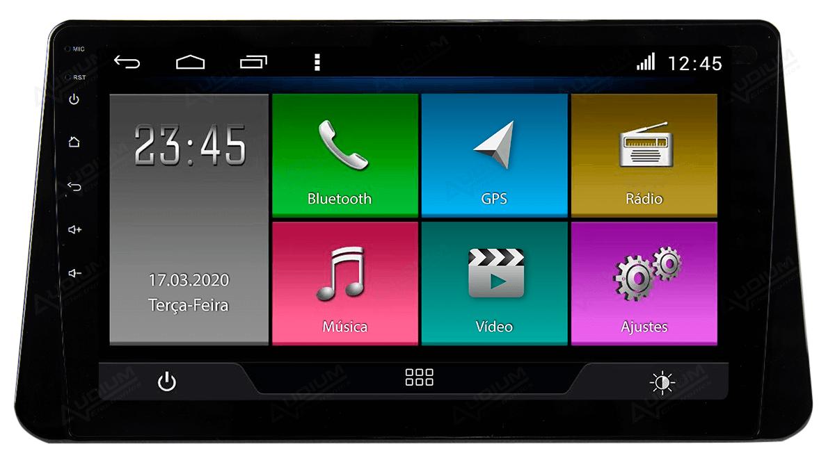 Central Multimidia Nissan KICKS -  Aikon ATOM X10 - Tela 10 pol - Waze Spotify - 2 cameras Ré + Frontal - TV  Digital - GPS Integrado -  Bluetooth - 2 entradas USB - Android 8.1
