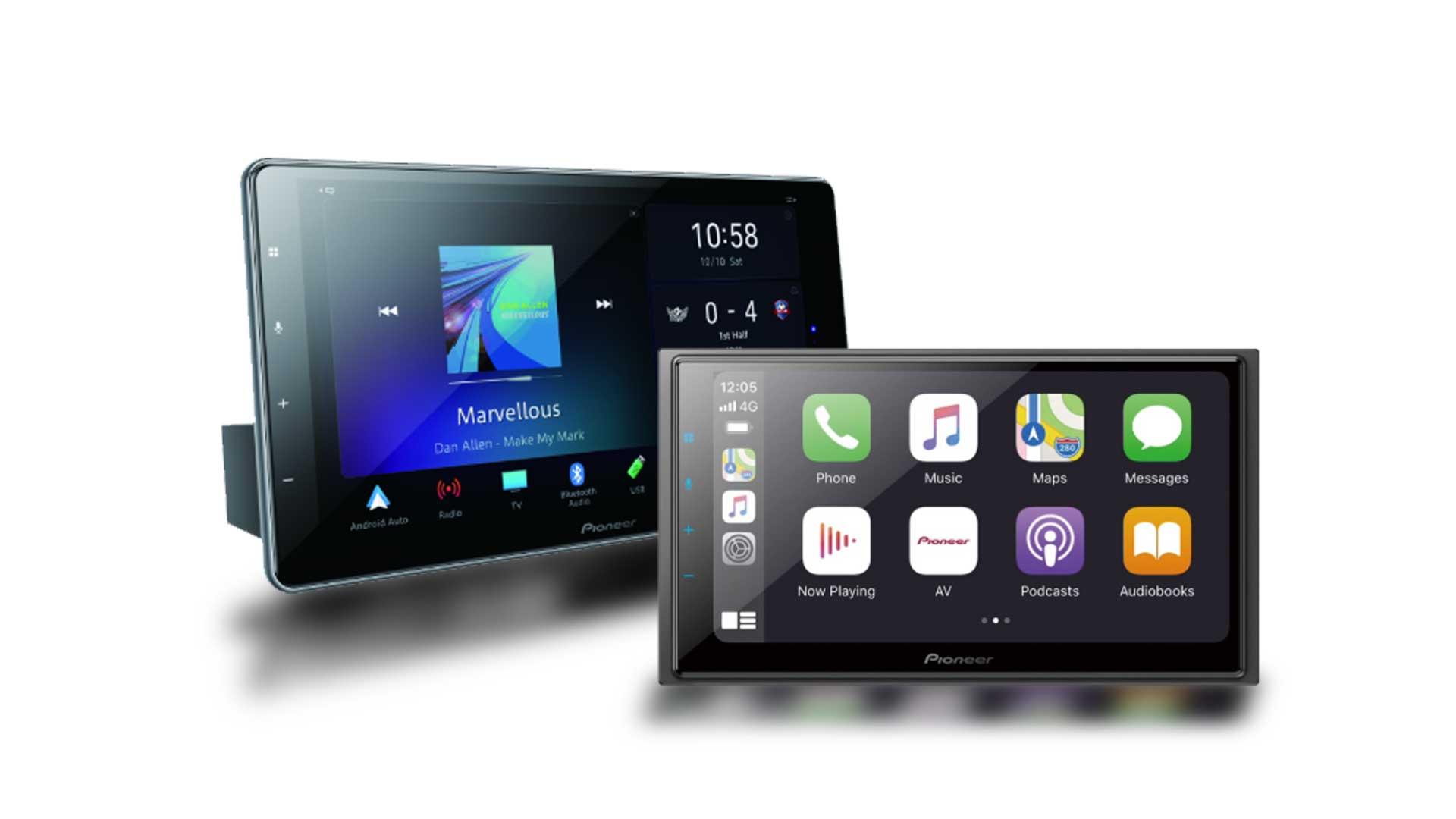 Central Multimidia Pioneer DMH-ZF9380TV - Tela 9 Flutuante  GPS Waze Car play / AndroiAuto - TV Digital - Bluetooth Entr. USB + Camera de ré (9380)