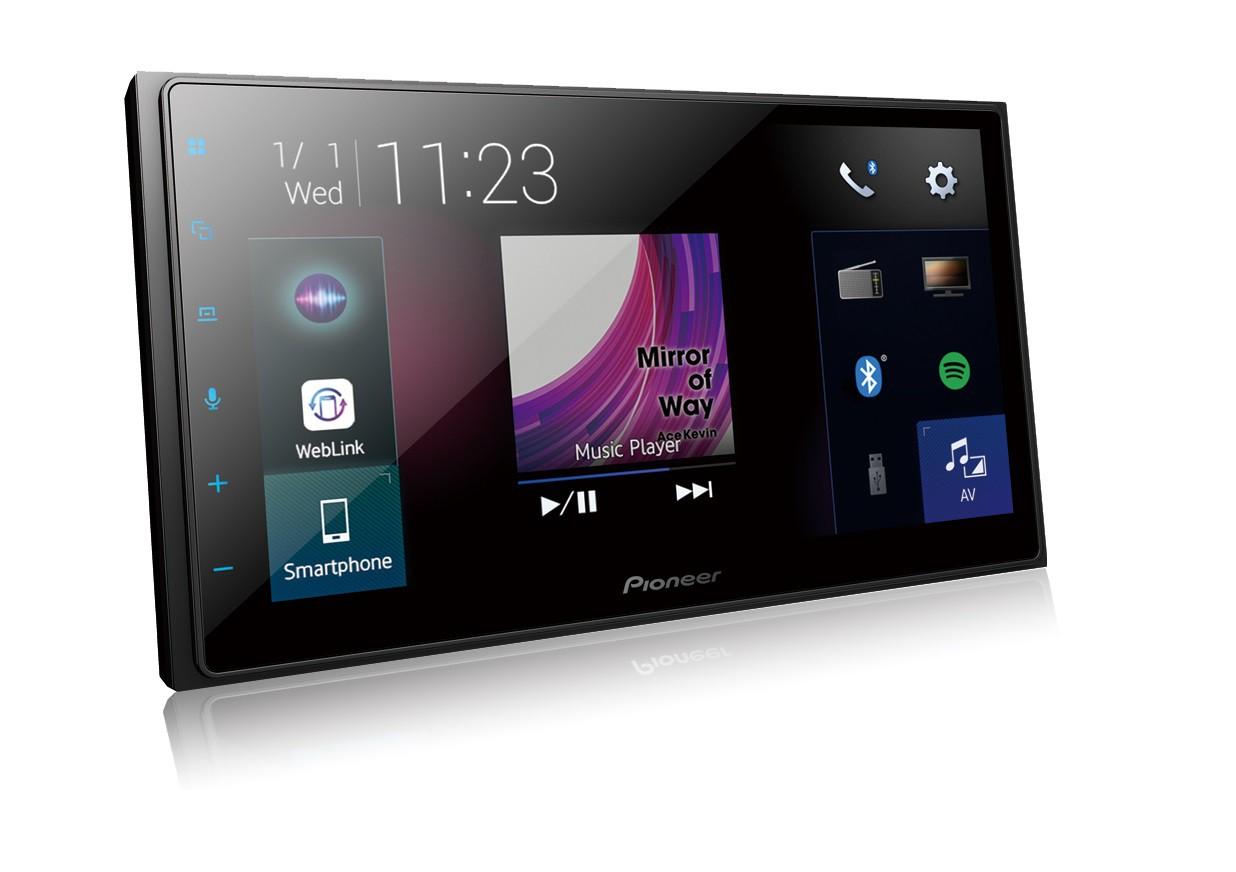 Central Multimidia Pioneer DMHZ6380TV Wi-fi - GPS Waze Car play / AndroiAuto - Tela 7 pol TV Digital - Bluetooth Entr. USB + Camera de ré (6380)