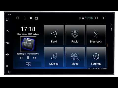 """Central Multimidia Toyota Yaris Hatch Sedan Tela 7""""  - Android + Camera de ré -  Espelhamento GPS Mapa Bluetooth MP3 USB Ipod SD Card Câmera Ré Grátis"""