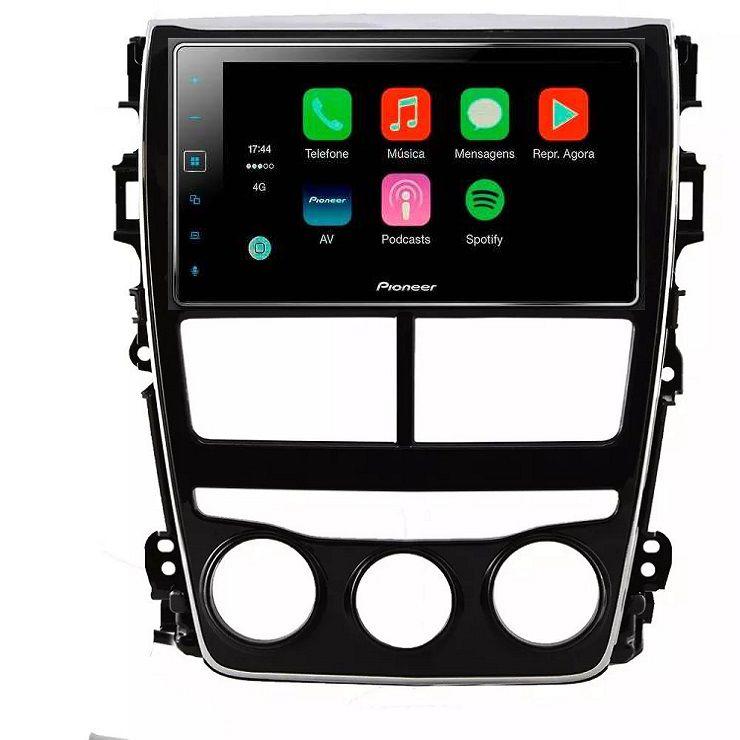 Central Multimidia Toyota Yaris Hatch Sedan - Pioneer SPH138 TV Digital Espelhamento GPS - Bluetooth MP3 USB  +  Câmera Ré Gratis