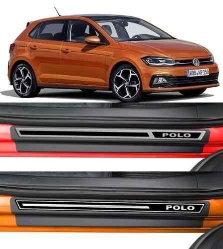 Jogo Soleira Premium Elegance Volkswagem Polo 2018 2019   - 4 Portas - Vinil + Resinada 8 Peças