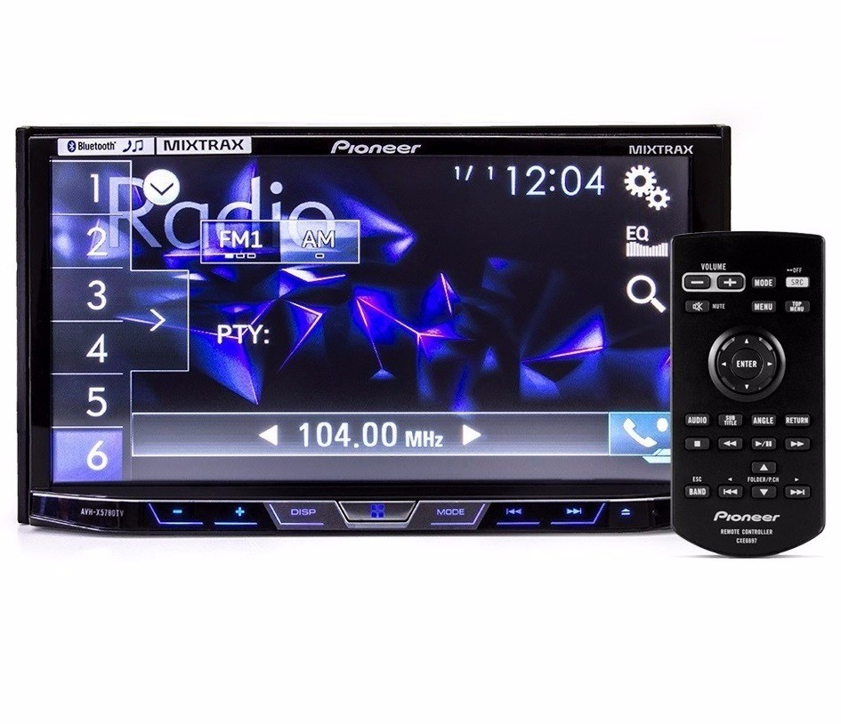 6a771018d DVD Player Automotivo 2 Din Pioneer AVH-X598TV Tela 7 Polegadas Com TV  Digital Bluetooth Entrada ...