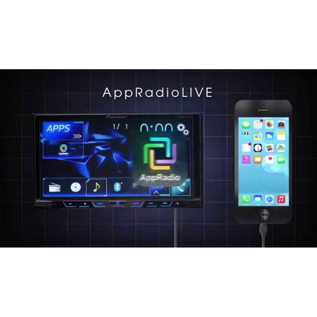 DVD Player Automotivo 2 Din Pioneer AVH-X598TV Tela 7 Polegadas Com TV Digital Bluetooth Entrada USB Mixtrax Entrada Auxiliar MP3 e TouchScreen