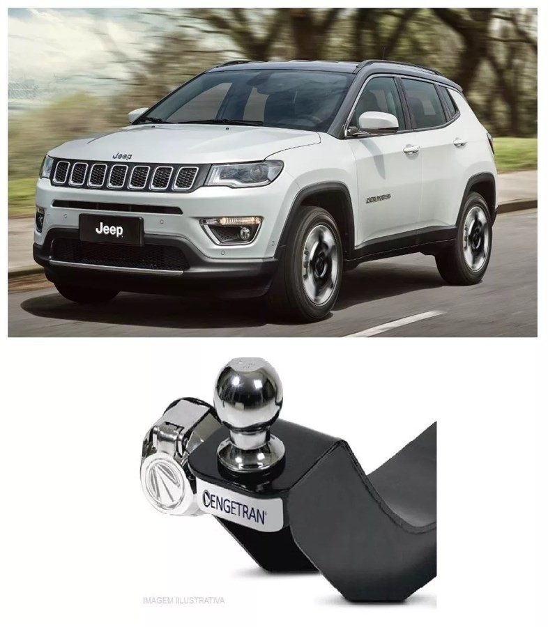 Engate para reboque Jeep Compass 2017 2019 - 500 KG
