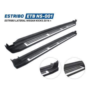 Estribo Lateral Nissan Kicks Injetado Original - PRODUTO INSTALADO