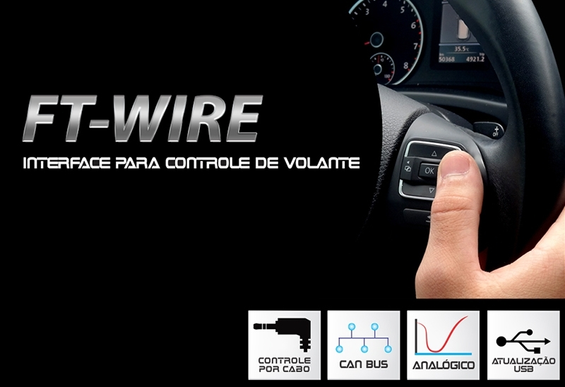 Interface Comando de Volante Faaftech Universal -  FT-WIRE - serve em mais de 170 carros