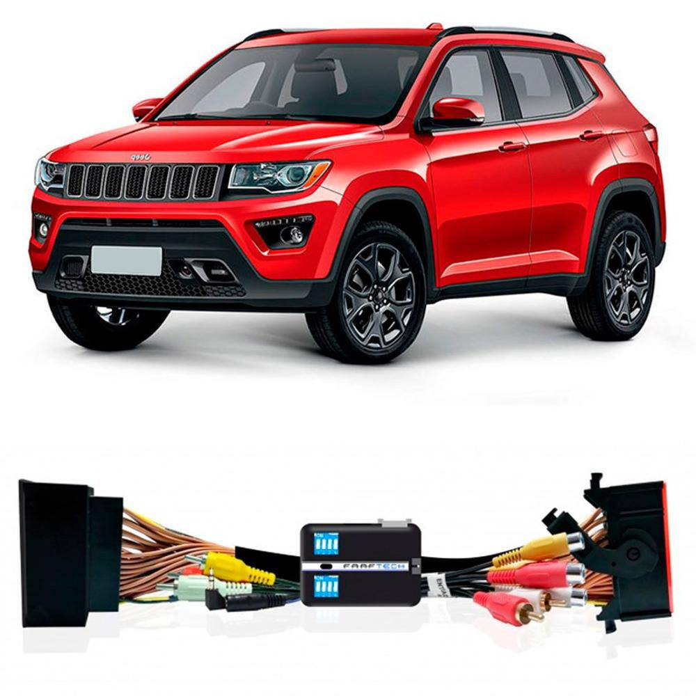 Interface Desbloqueio De Video Jeep Compass 2017 2021  Faaftech