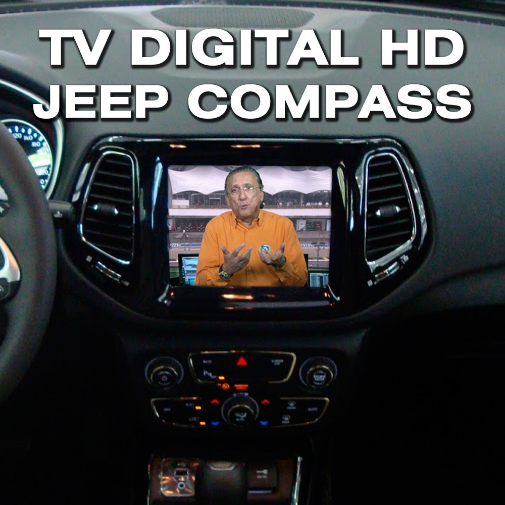 Interface Desbloqueio De Video + TV FULL - Jeep Compass 2017 2020 Faaftech