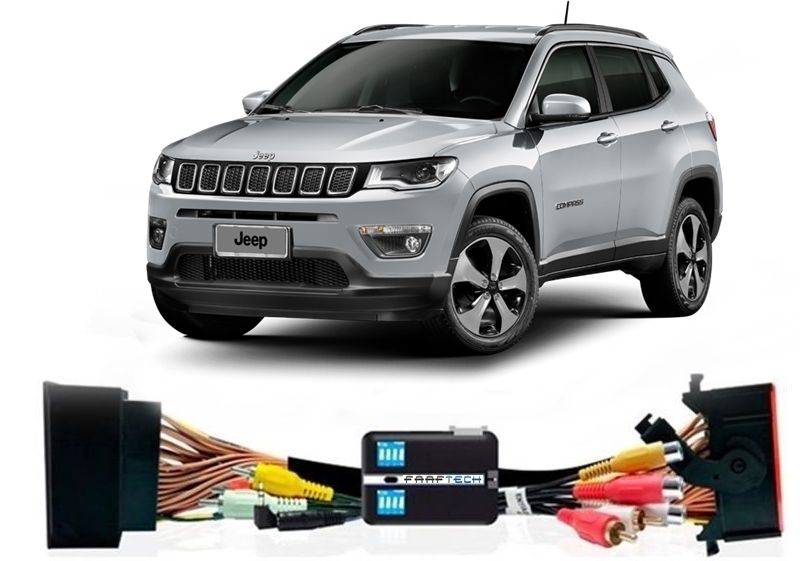 Interface Desbloqueio De Video + TV FULL - Jeep Compass 2017 2018  Faaftech