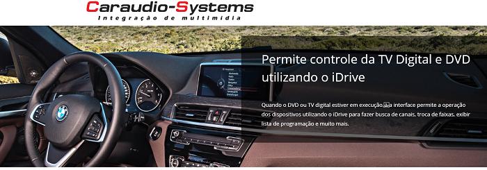 Interface Desbloqueio multimídia BMW 320i 2012 Á 2017 + Tv Digital + Espelhamento sem Fio + Câmera de ré - V4-NBT