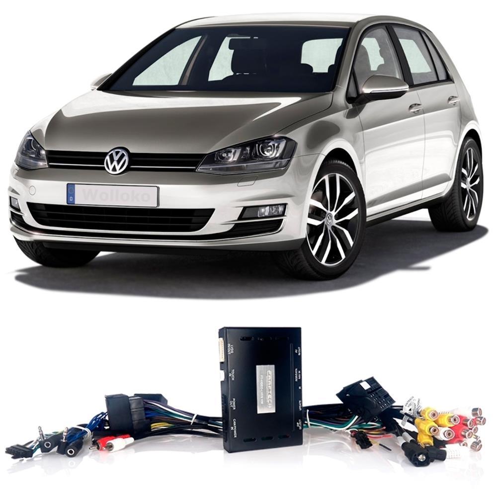 Interface Desbloqueio multimídia VW GOLF 2015 2016 2017 - LVDS Entrada Tv Digital Espelhamento Câmera de Ré e GPS