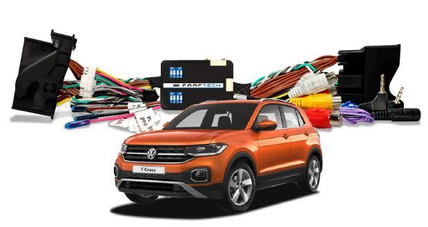 Interface Desbloqueio Tela Central Multimidia VW - TCross + Câmera de ré + TV FULL HD