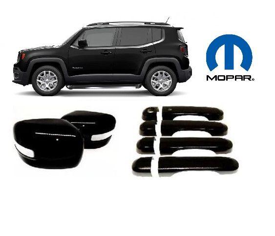 Jogo Capa Retrovisor + Aplique Maçanetas  Jeep Renegade - MOPAR Original -  BRANCO PRETO VERMELHO CINZA