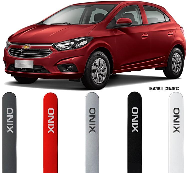 Jogo Friso Lateral Pintado Gm Chevrolet Onix LT LTZ LS Joy 2016 2020 - Cor Original