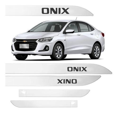 Jogo Friso Lateral Pintado Gm Chevrolet Onix Nova Geração 2020/2021 - Cor Original
