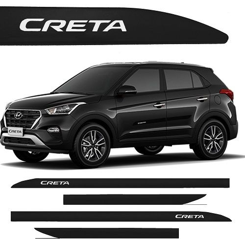 Jogo Friso Lateral Pintado Hyundai Creta 2017 2018- Cor Original