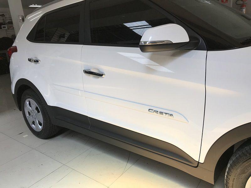 Jogo Friso Lateral Pintado Hyundai Creta 2017a 2020 - Alto Relevo Cromo