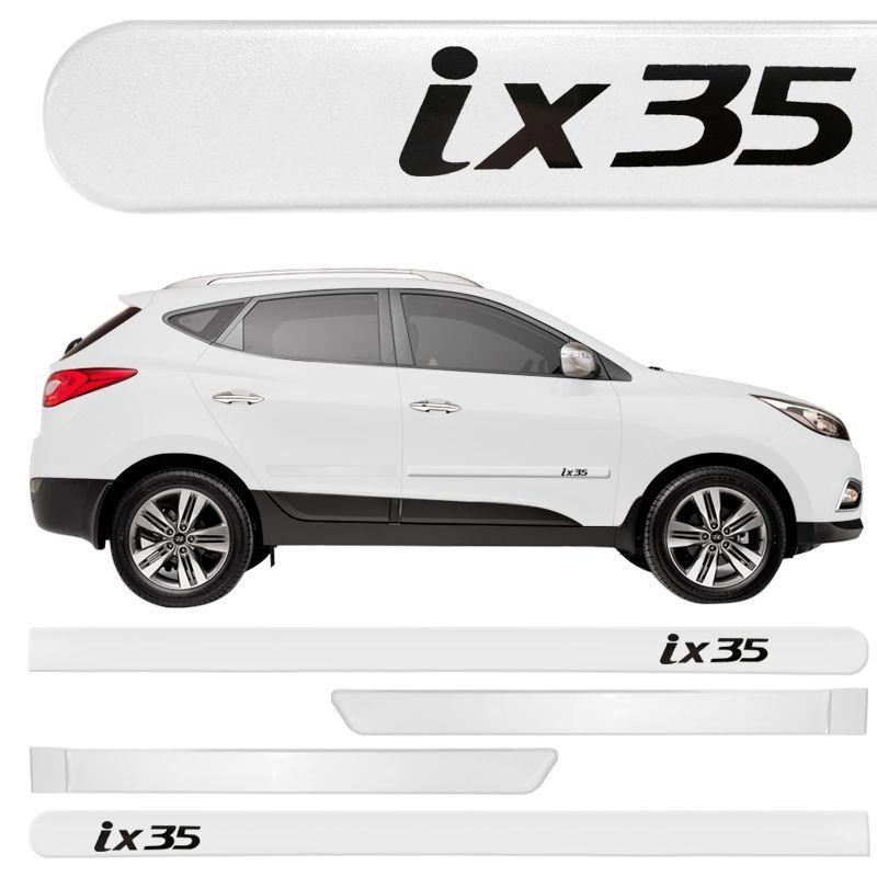 Jogo Friso Lateral Pintado Hyundai IX35 2011 a 2020 - Cor Original