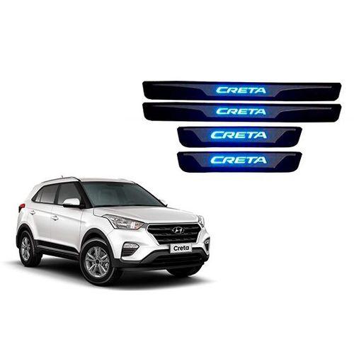 Jogo Soleira Aço Inox com LED Hyundai CRETA - 4 Portas