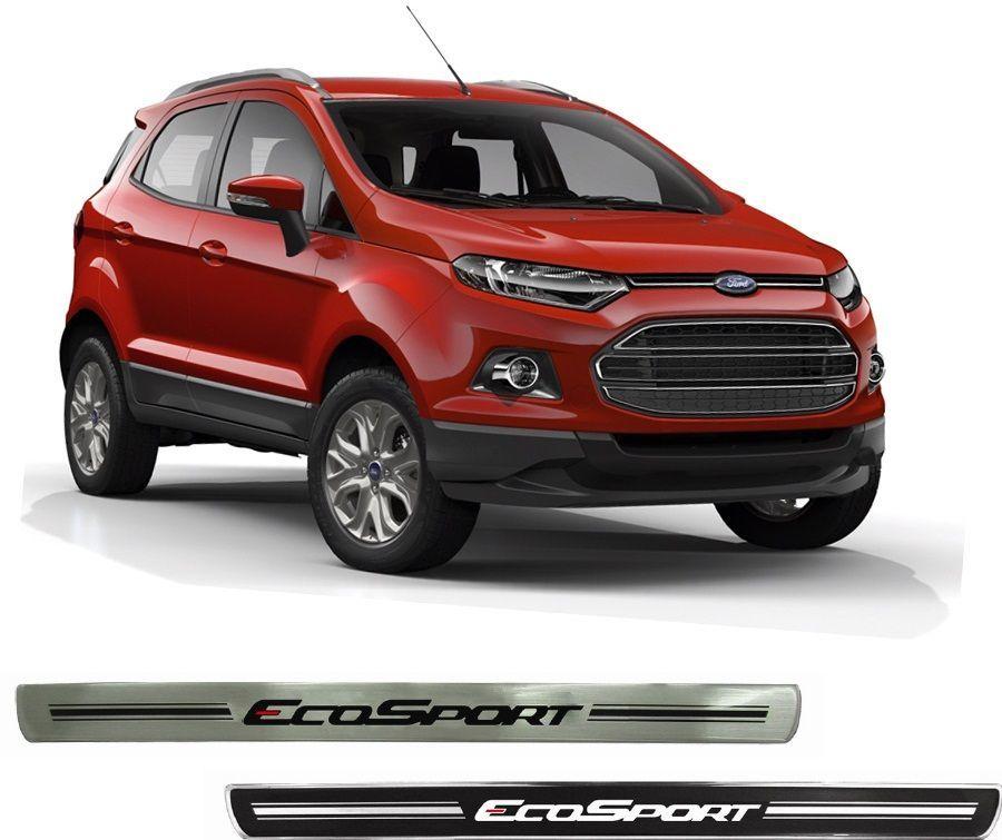 Jogo Soleira Premium Elegance Ford Ecosport 2012 - 2018  - 4 Portas - Vinil + Resinada 8 Peças