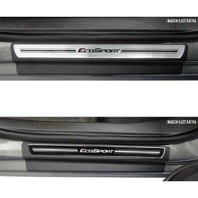 Jogo Soleira Premium Elegance Ford Ecosport 2012 - 2020  - 4 Portas - Vinil + Resinada 8 Peças