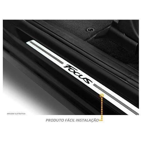 Jogo Soleira Premium Elegance Ford Focus 2009 - 2020  - 4 Portas - Vinil + Resinada 8 Peças