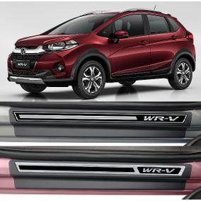 Jogo Soleira Premium Elegance Honda WRV  2017 a 2020 - 4 Portas - Vinil + Resinada 8 Peças