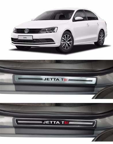 Jogo Soleira Premium Elegance Volkswagem Jetta 2012 a 2020   - 4 Portas - Vinil + Resinada 8 Peças