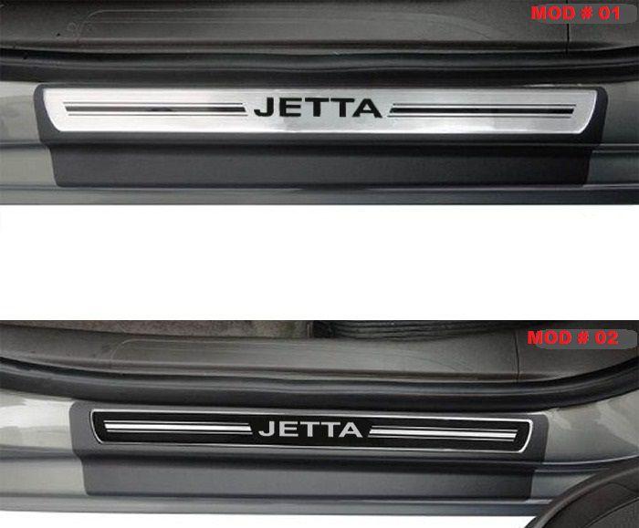 Jogo Soleira Premium Elegance Volkswagem Jetta 2012 a 2019   - 4 Portas - Vinil + Resinada 8 Peças