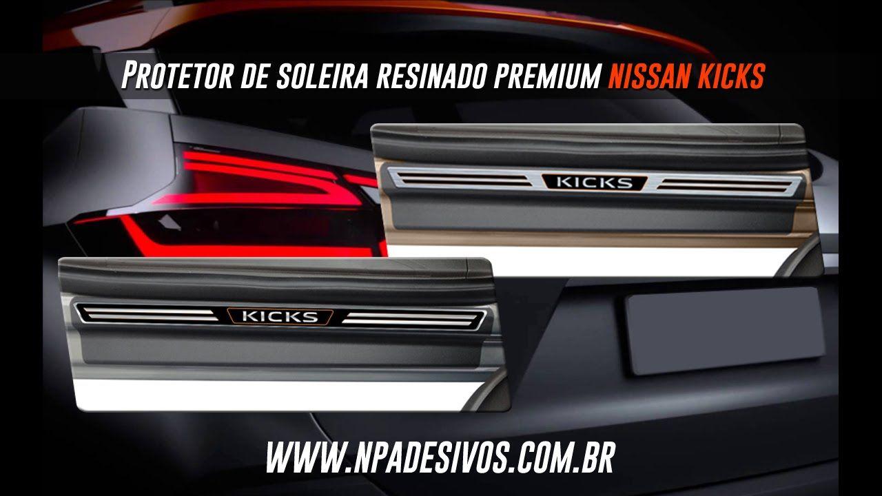 Jogo Soleira Premium Nissan Kicks 2016 á 2018  - 4 Portas - Vinil + Resina 8 Peças