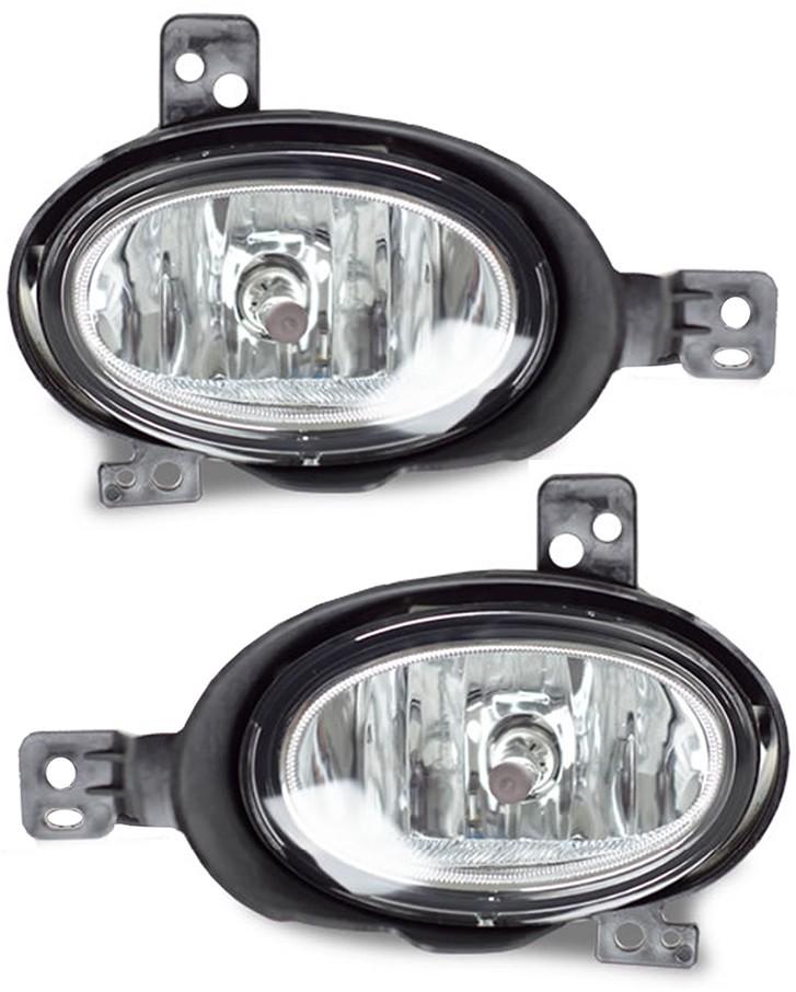 Kit Farol de Milha Neblina Honda HRV 2015 á 2018 Com Molduras Externas Preto - Interruptor Modelo Original