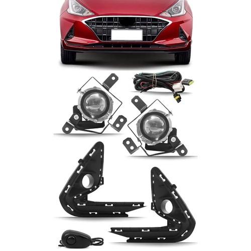 Kit Farol de Milha Neblina Hyundai HB20 2020 2021 - Nova Geração Hatch / Sedan