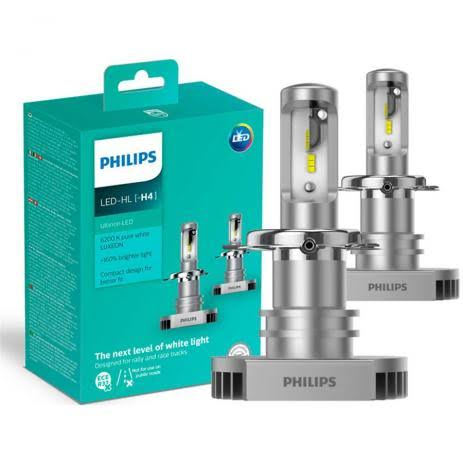 Kit Lampada Led Automotiva Ultra PHILIPS Ultinon Encaixe H4