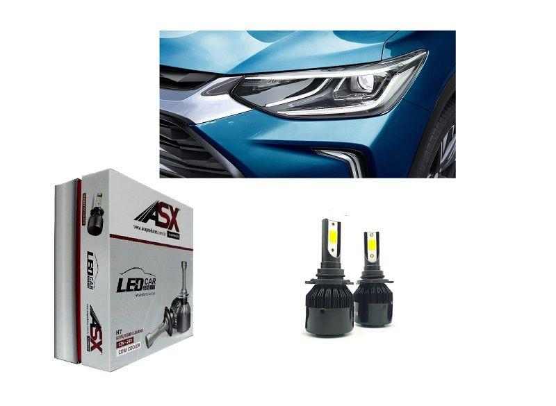 KIT Lampadas Tracker 2021 - LED ULTRA Slim - H7 Farol Baixo - c/ Canceller Cambus - 7.000 lums