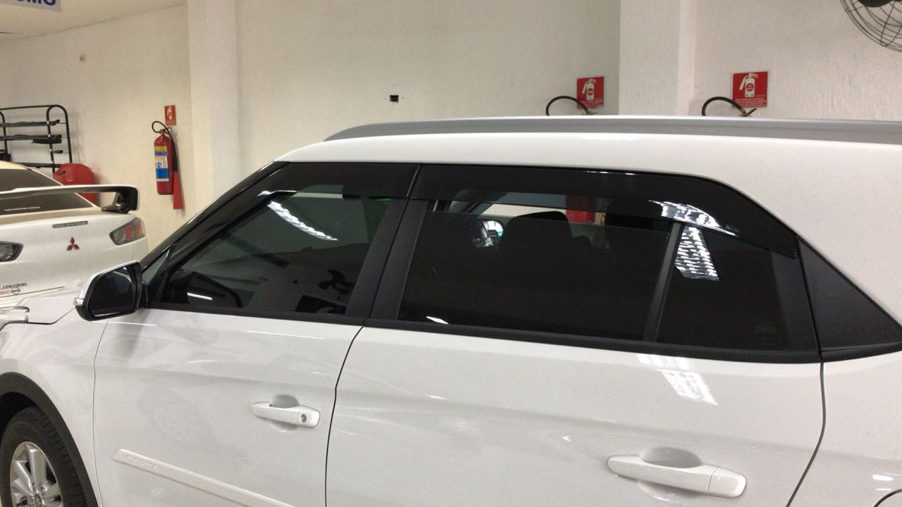Longarina de Teto Hyundai Creta - Decorativa / Estetica- Preto / Cinza