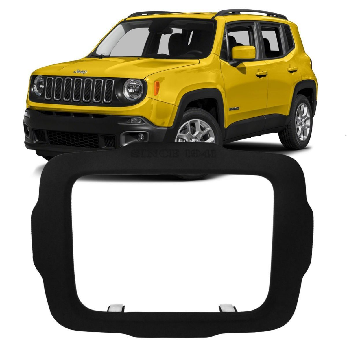 Moldura 2 Din para central multimidia  Jeep Renegade PCD