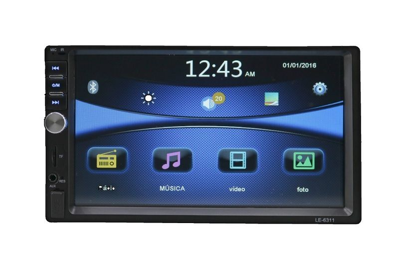 Multimídia Mp5 Player Automotivo Bt Usb Sd - Espelhamento Android