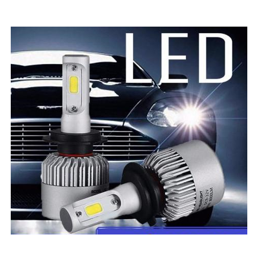 _Par Lâmpada Ultra LED - 6.000K ( Branco )  - Sistema Cam Bus 8.000 lumes -  Efeito Xenon H1 H3 H4 H7 H11 H27 HB4 HB3