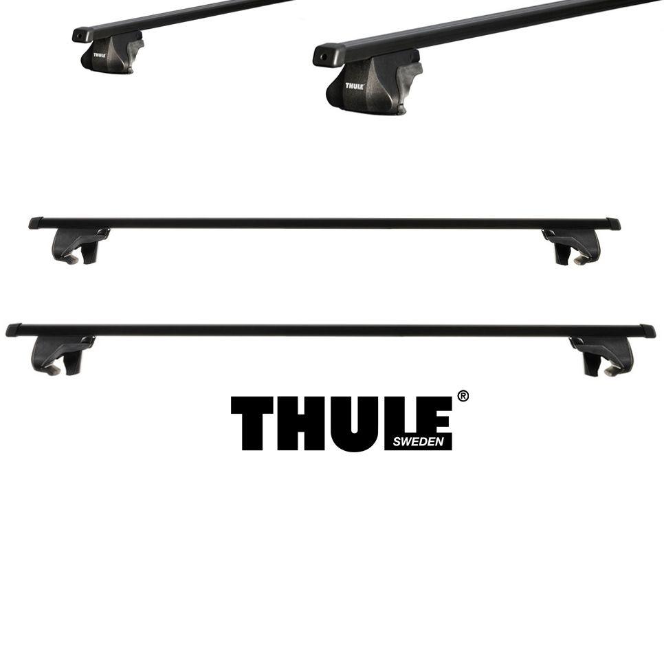 Rack Thule SmartRack trilhos elevado universal completo que inclui bases, travas e Thule AeroBars.- Prata ou Preto