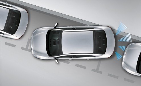 Sensor de Estacionamento Ré - 8 Sensores - Sonoro FRONT / REAR - Com Display Slim - Visor em LED  - Preto / Prata / Branco