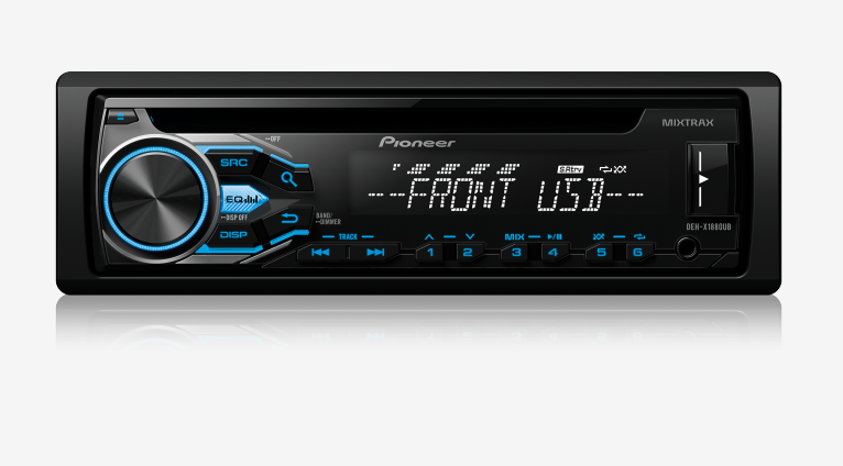 Som Automotivo CD Player Automotivo Pioneer DEH-X1880UB, Entrada USB, Reproduz MP3, Mixtrax , Controle Remoto