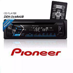 Som Automotivo CD Player Automotivo Pioneer DEHS1080UB, Entrada USB, Reproduz MP3, Mixtrax , Controle Remoto