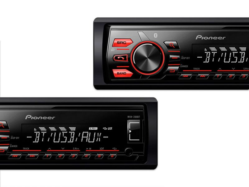 Som Automotivo Media Center Pioneer MVH288BT Com Bluetooth, Entrada USB, Controle De Subwoofer, Controle Remoto