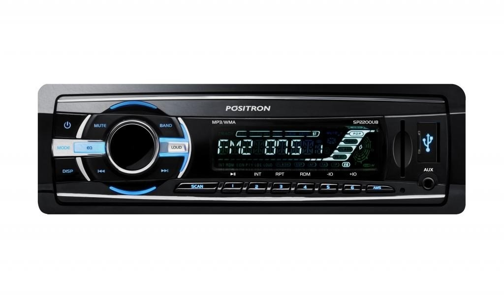 Som Automotivo Media Center Positron SP2200UB Com MP3, Entrada USB, Entrada SD Card, Reproduz MP3, WMA, Entrada Auxiliar