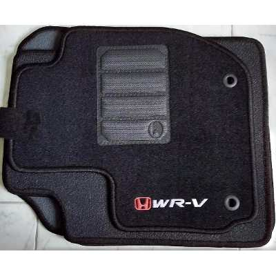 Tapete Honda WRV 2017 - 2018 - Carpete Preto Bordado Logo